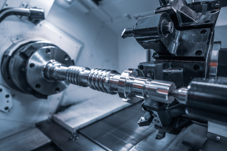 CNC milling machine in use