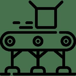 Manufacturing conveyor belt process.